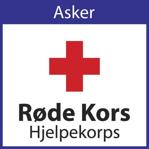Asker Røde Kors Hjelpekorps logo